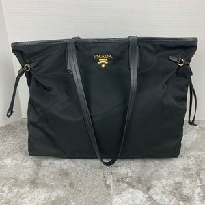 Authentic Prada tessuto saffiano nylon black tote